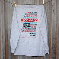 Mississippi Home Gray Long Sleeve