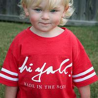 Toddler Red Football Tee